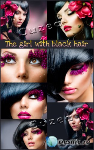 Красивые темноволосые девушки - растровый клипарт