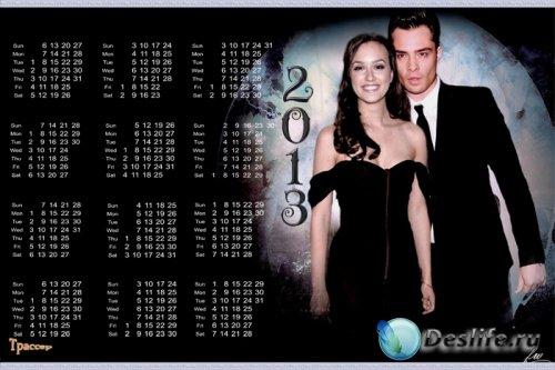Календарь на 2013 и 2014 года - Сплетница - Чак и Блэр (Эд Вествик и Лейтон ...