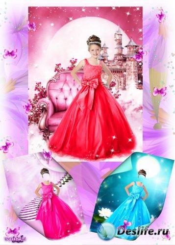 Детские костюмы для фотошопа - Маленькие леди в восхитительных платьях