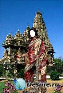 Костюм для фотошопа - Восточная красавица возле старинного храма
