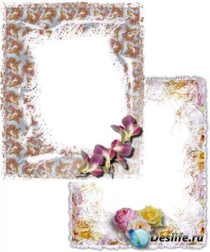 2 цветочные фоторамки