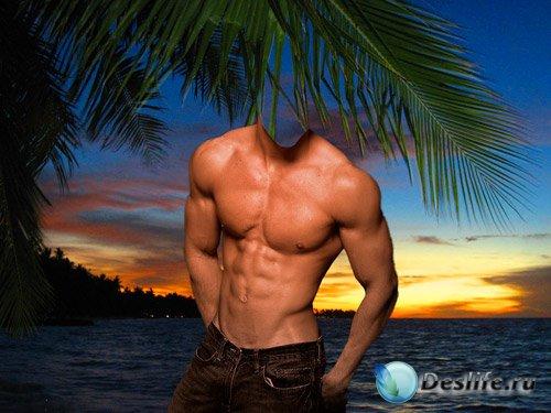 Костюм для фотошопа – Мужчина под пальмами