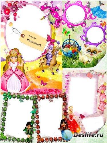 Подборка рамок для девочек – Маленькие принцессы