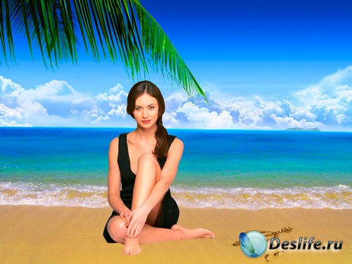 Костюм для фотошопа – Влюбленная девушка у моря