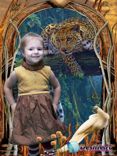 Костюм для Фотошопа - Леопард