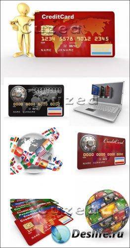 Кредитные карточки - векторный клипарт