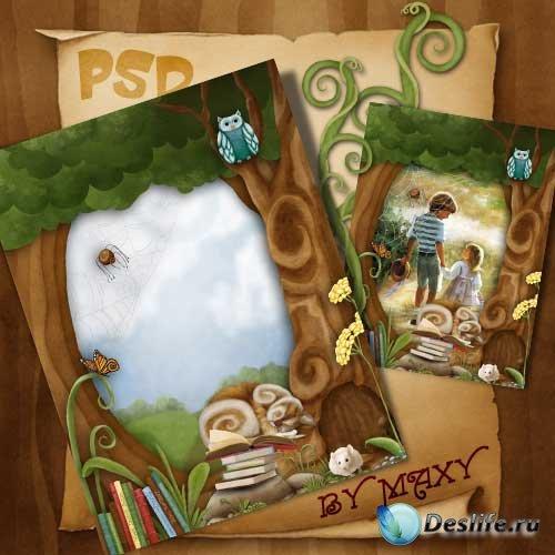 Рамка для фотошоп - Лесные истории