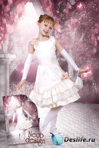 Детский костюм для девочки - Маленькая леди собралась на бал