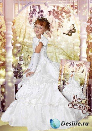 Детский костюм для девочки - Маленькая принцесса в сказочном саду