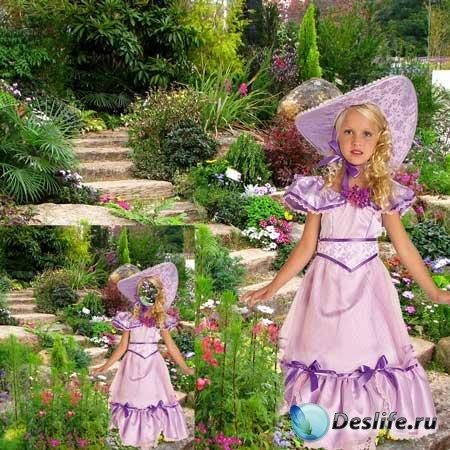 Костюм детский для фотошопа - Юная леди