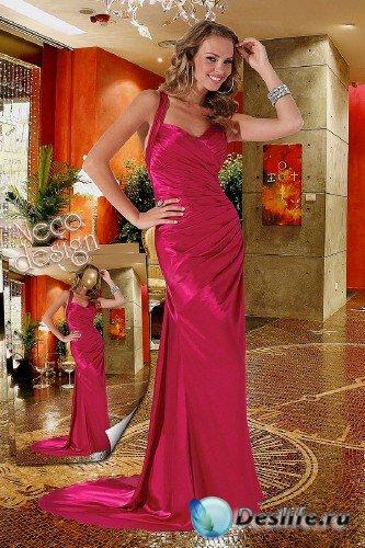 Женский костюм - В вечернем розовом платье