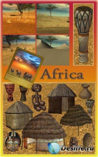 Клипарт PNG - Африка