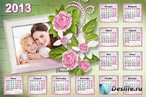 Календарь на 2013 год - Прелестные розы для мамы