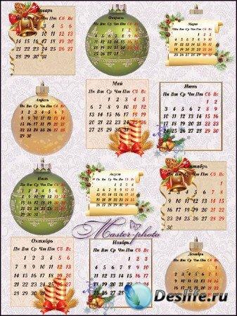 Календарная сетка для вашего творчества к новогодним праздникам