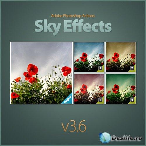 Экшен для программы Adobe Photoshop - Небесный эффект