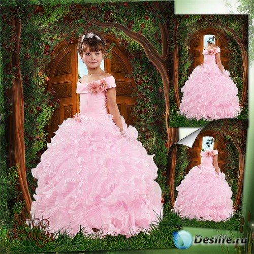 Костюм для девочки в розовом пышном платье - Хозяйка лесного дома