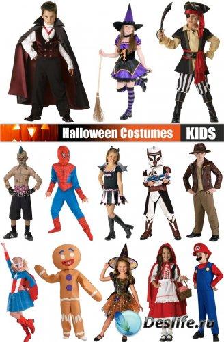 Дети в костюмах на хэллоуин / Children in costumes for Halloween