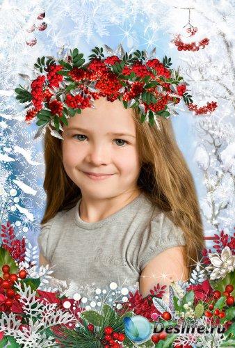 Рамка для фотошопа - Зимний веночек