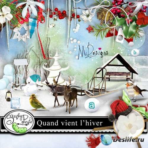 Новогодний скрап-набор - Когда выпадает снег