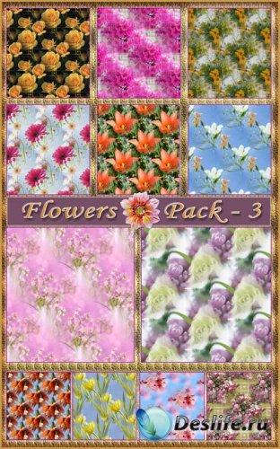 Цветочые фоны -3