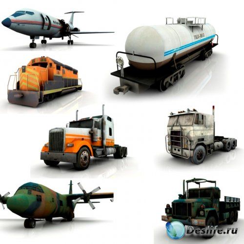 3D модели транспорта из игры «Left 4 Dead»
