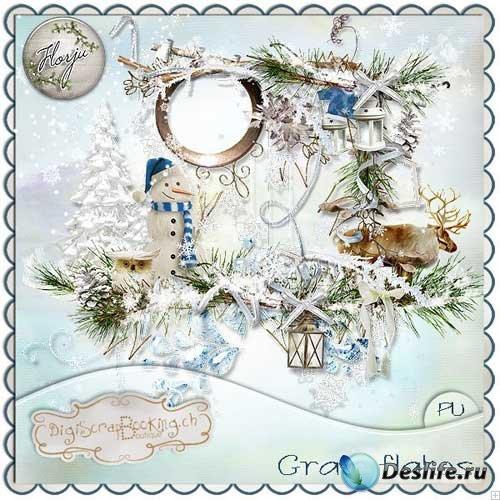Зимний скрап-набор - Снежные хлопья