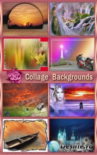 Фоны для коллажей и открыток