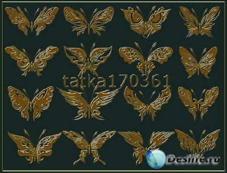 Фигуры для фотошопа в виде затейливых бабочек