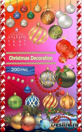 Клипарт - Рождественские украшения