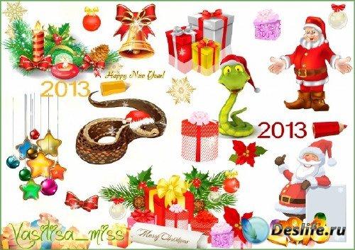 Красивый новогодний клипарт для оформления и украшения ваших работ - Клипар ...