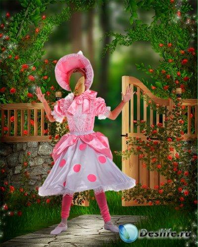 Костюм для фотошопа – Девочка в розовом платье
