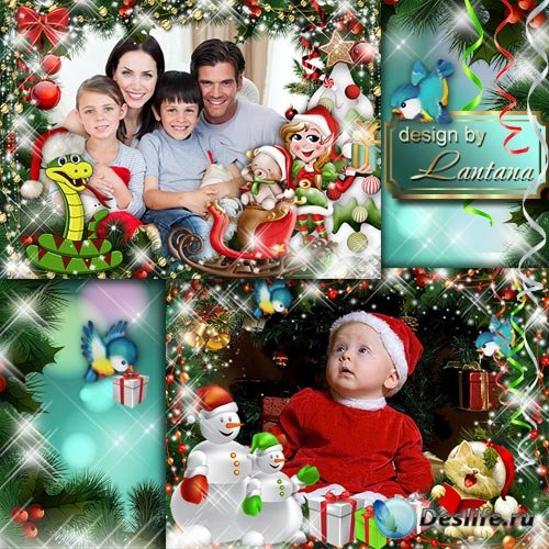 Детские рамочки - Под Новый год, как в сказке, полным-полно чудес