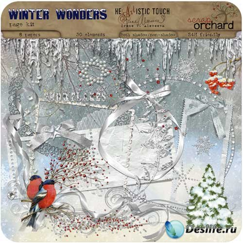 Зимний скрап набор - Удивительная зима