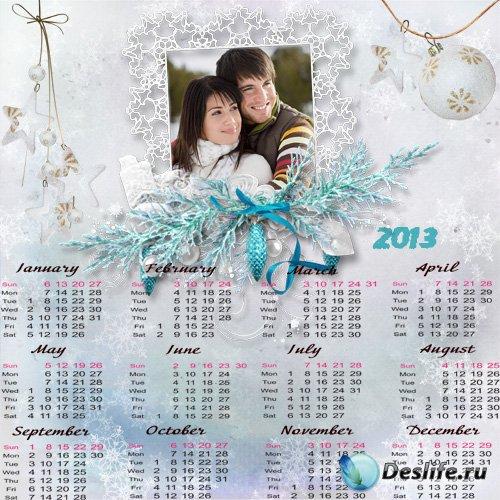 Календарь фоторамка на 2013 год - Любви Вам в Новом году