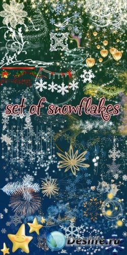 Сборник клипарт на тему - Снежинки
