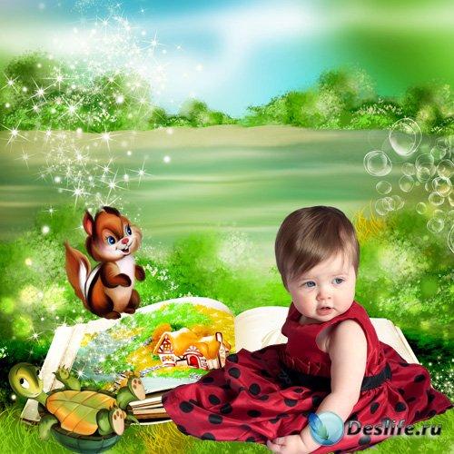 Детский шаблон для фотошопа - Страна чудес