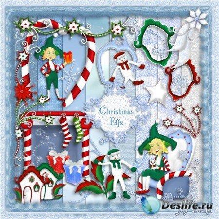 Скрап-набор: Рождественский эльф