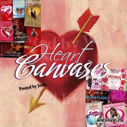 Коллекция фонов - Heart Canvases