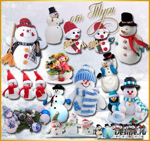 Новогодний клипарт - Встречайте все снеговика