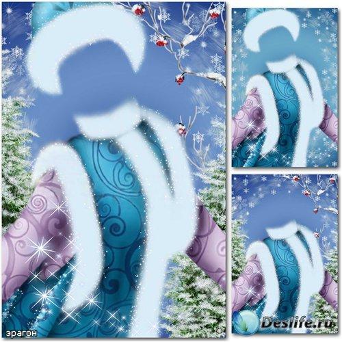 Новогодний костюм для фотошопа – Снегурочка среди снежинок