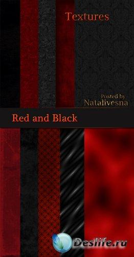 Текстуры -  Черные и красные