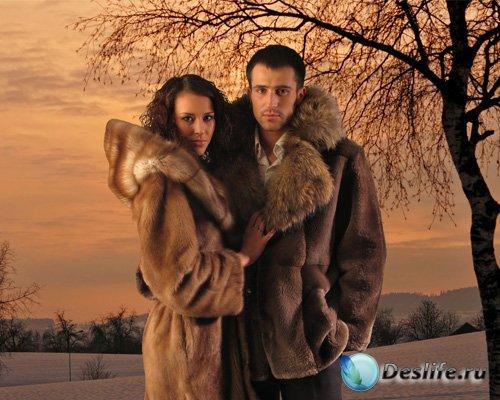 Парный шаблон – Зимний вечер