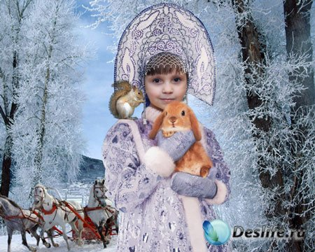 Костюм детский - Юная Снегурочка