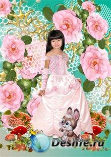 Костюм для Фотошопа - В розовом платье