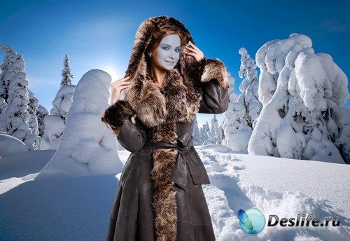 Костюм для фотошопа – На прогулке в зимнем лес