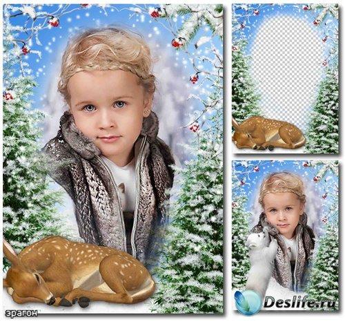 Зимняя рамка для фотографий – Снежная зима