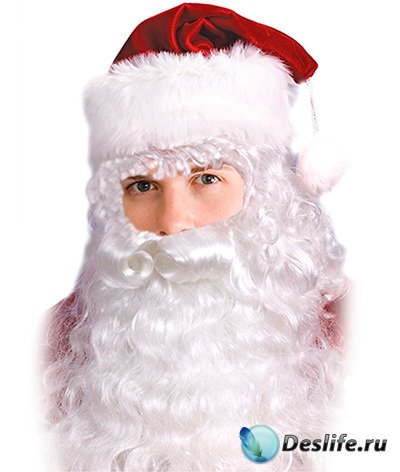 Мужской костюм для фотошопа - Это Санта