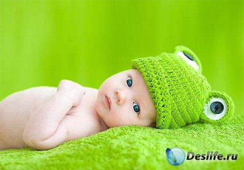 Детский шаблон для фотошопа - Мой маленький лягушонок
