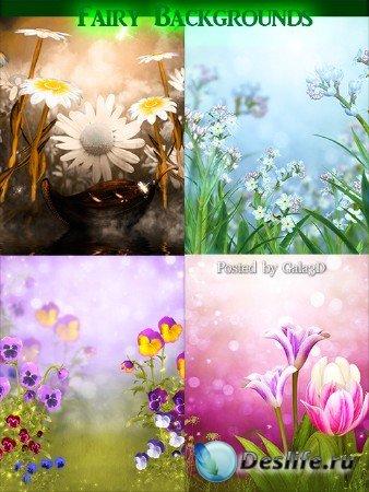Сказочные цветочные фоны