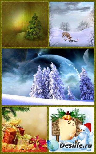 Зимние и новогодние - Фоны